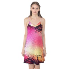 Floral Frame Surrealistic Camis Nightgown