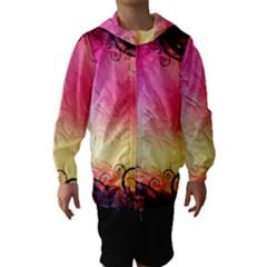 Floral Frame Surrealistic Hooded Wind Breaker (kids)