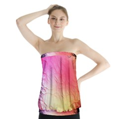Floral Frame Surrealistic Strapless Top