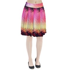 Floral Frame Surrealistic Pleated Skirt