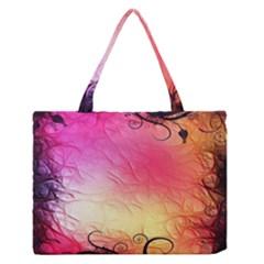 Floral Frame Surrealistic Medium Zipper Tote Bag