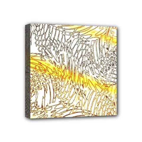 Abstract Composition Digital Processing Mini Canvas 4  x 4