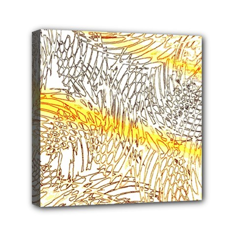 Abstract Composition Digital Processing Mini Canvas 6  X 6