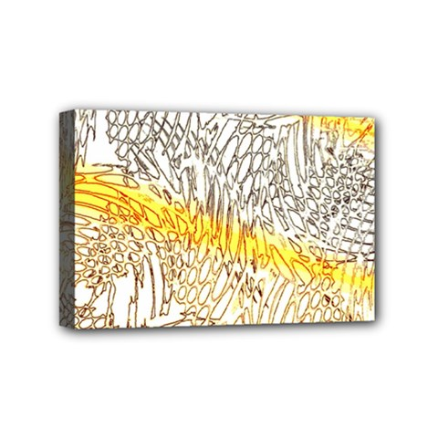 Abstract Composition Digital Processing Mini Canvas 6  X 4