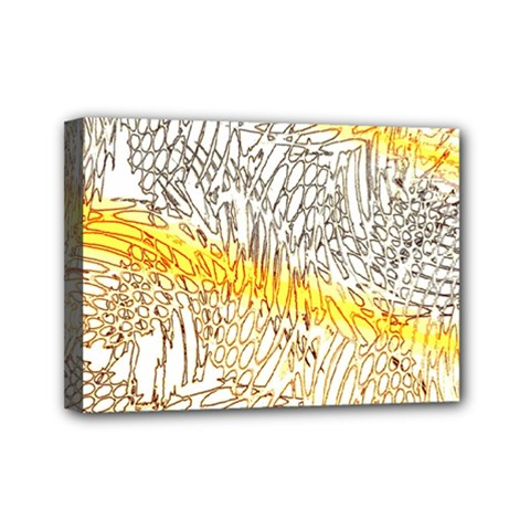Abstract Composition Digital Processing Mini Canvas 7  X 5