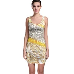 Abstract Composition Digital Processing Sleeveless Bodycon Dress