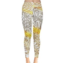 Abstract Composition Digital Processing Leggings