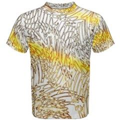 Abstract Composition Digital Processing Men s Cotton Tee