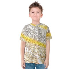 Abstract Composition Digital Processing Kids  Cotton Tee
