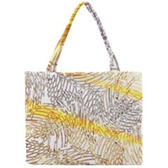 Abstract Composition Digital Processing Mini Tote Bag