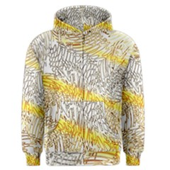 Abstract Composition Digital Processing Men s Zipper Hoodie