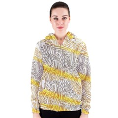 Abstract Composition Digital Processing Women s Zipper Hoodie