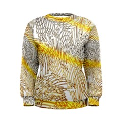 Abstract Composition Digital Processing Women s Sweatshirt