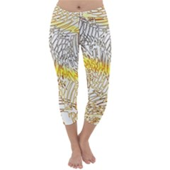 Abstract Composition Digital Processing Capri Winter Leggings