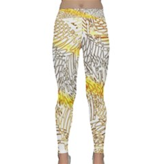 Abstract Composition Digital Processing Classic Yoga Leggings