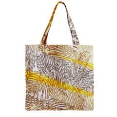 Abstract Composition Digital Processing Zipper Grocery Tote Bag