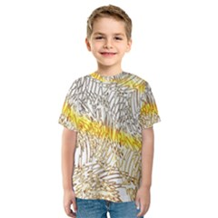 Abstract Composition Digital Processing Kids  Sport Mesh Tee
