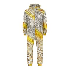 Abstract Composition Digital Processing Hooded Jumpsuit (Kids)