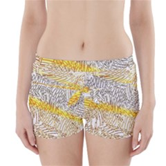 Abstract Composition Digital Processing Boyleg Bikini Wrap Bottoms