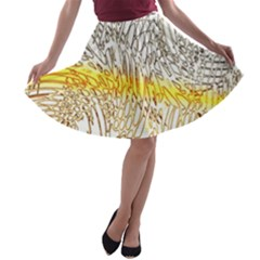 Abstract Composition Digital Processing A-line Skater Skirt