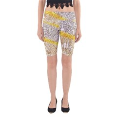 Abstract Composition Digital Processing Yoga Cropped Leggings
