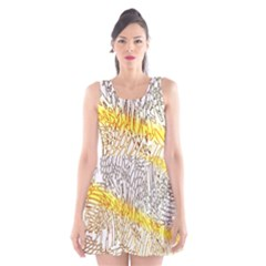 Abstract Composition Digital Processing Scoop Neck Skater Dress