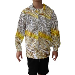 Abstract Composition Digital Processing Hooded Wind Breaker (kids)