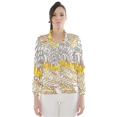 Abstract Composition Digital Processing Wind Breaker (Women)