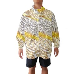 Abstract Composition Digital Processing Wind Breaker (kids)