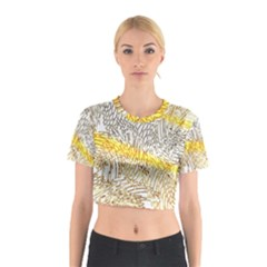Abstract Composition Digital Processing Cotton Crop Top