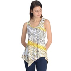 Abstract Composition Digital Processing Sleeveless Tunic