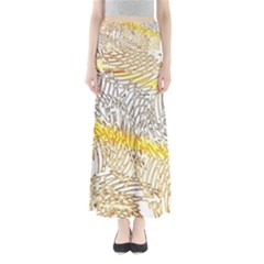 Abstract Composition Digital Processing Maxi Skirts