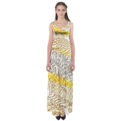 Abstract Composition Digital Processing Empire Waist Maxi Dress