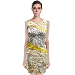 Abstract Composition Digital Processing Classic Sleeveless Midi Dress