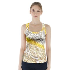 Abstract Composition Digital Processing Racer Back Sports Top