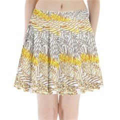 Abstract Composition Digital Processing Pleated Mini Skirt