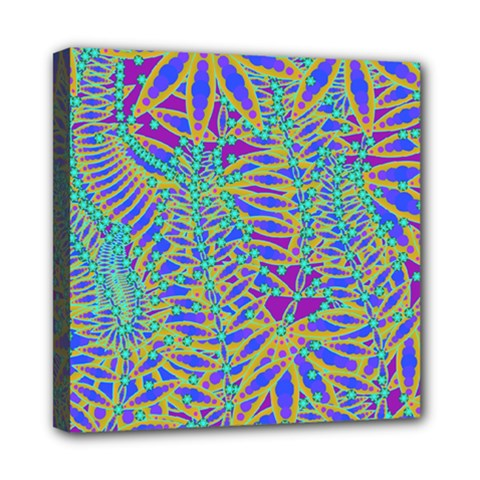 Abstract Floral Background Mini Canvas 8  X 8