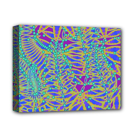 Abstract Floral Background Deluxe Canvas 14  x 11