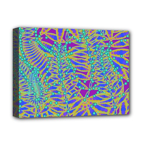 Abstract Floral Background Deluxe Canvas 16  x 12