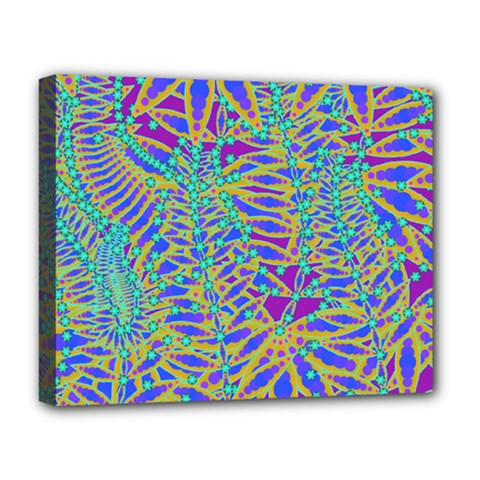 Abstract Floral Background Deluxe Canvas 20  x 16