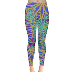 Abstract Floral Background Leggings