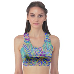 Abstract Floral Background Sports Bra