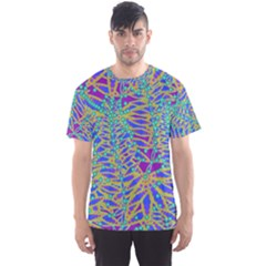Abstract Floral Background Men s Sport Mesh Tee
