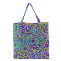 Abstract Floral Background Grocery Tote Bag