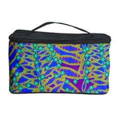 Abstract Floral Background Cosmetic Storage Case