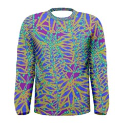 Abstract Floral Background Men s Long Sleeve Tee