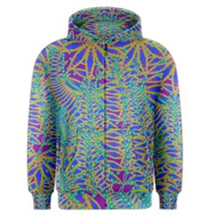 Abstract Floral Background Men s Zipper Hoodie