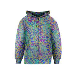 Abstract Floral Background Kids  Zipper Hoodie