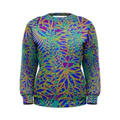 Abstract Floral Background Women s Sweatshirt