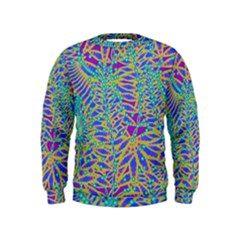 Abstract Floral Background Kids  Sweatshirt